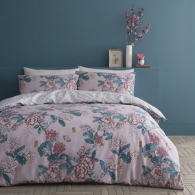 Catherine Lansfield Peony Garden Reversible Duvet Cover and Pillowcase Set