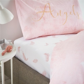 Catherine Lansfield Angel Blush Fitted Sheet