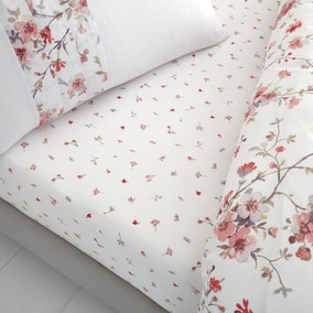Catherine Lansfield Jasmine Floral Fitted Sheet