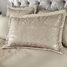 Catherine Lansfield Velvet Sparkle Champagne Pillowsham Pair