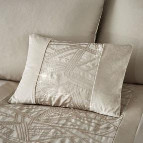 Catherine Lansfield Velvet Sparkle Champagne Cushion