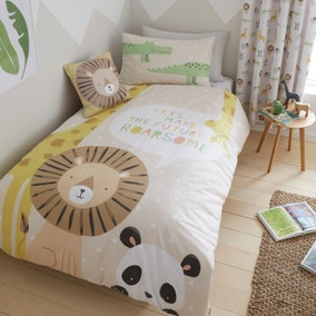 Catherine Lansfield Roarsome Animals Reverisble Duvet Cover and Pillowcase Set