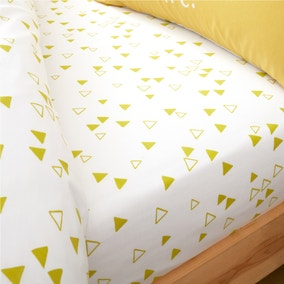 Catherine Lansfield Geometric Yellow Fitted Sheet