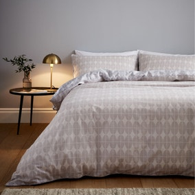 Content By Terence Conran Orby Ovals 100% Cotton Duvet Cover and Pillowcase Set