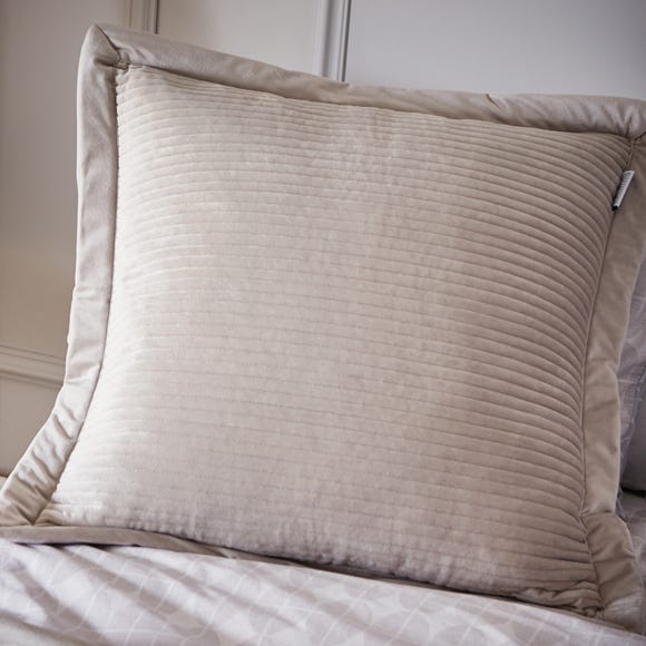 Content By Terence Conran Linear Velvet Cushion Stone