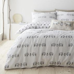 Pineapple Elephant Tembo 100% Cotton Reversible Duvet Cover and Pillowcase Set