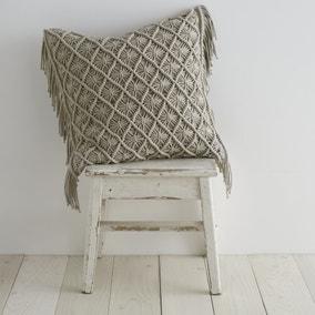 Pineapple Elephant Macrame Diamond Cushion