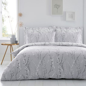 Belle Grey Reversible Duvet Cover and Pillowcase Set