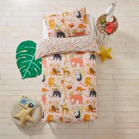 Endangered Floral 100% Cotton Duvet Cover and Pillowcase Set
