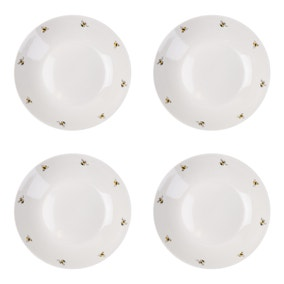 Set of 4 Bee Pasta Bowls