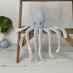 Wool Couture Robyn Octopus Blue Knitting Kit