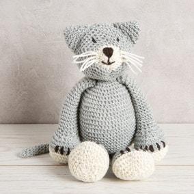 Wool Couture Chloe Cat Grey Knitting Kit