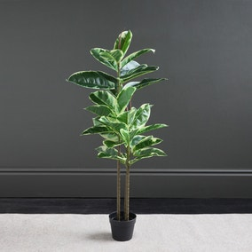 Artificial Variagated Triple Stem Rubber Tree