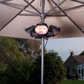 Heatmaster 1.8kW Popular Black Parasol Heater