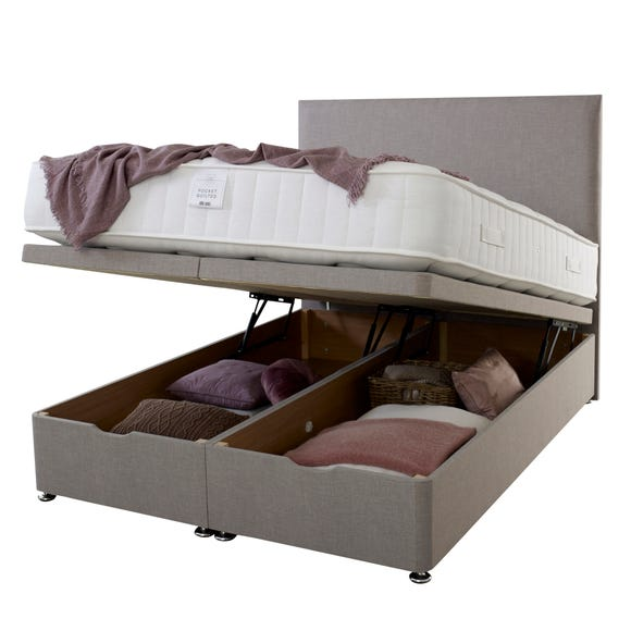 End Opening Ottoman Bed Grey undefined