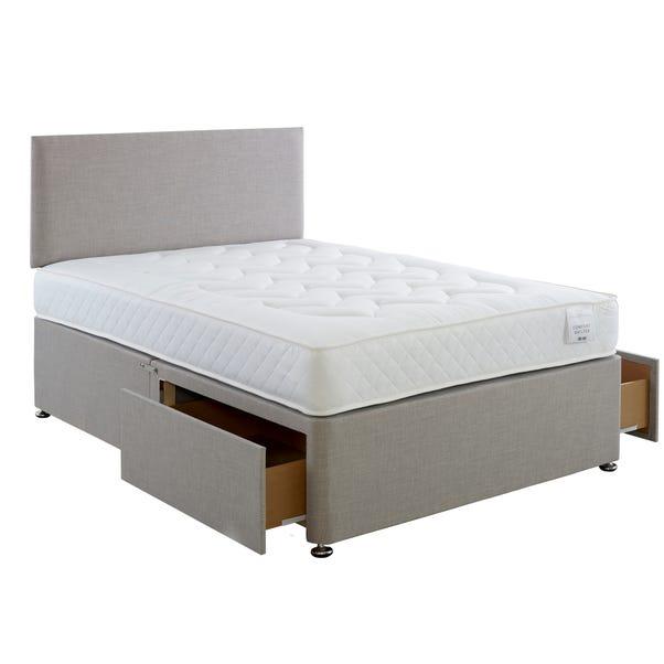 Comfort Divan Bed with Mattress Grey undefined