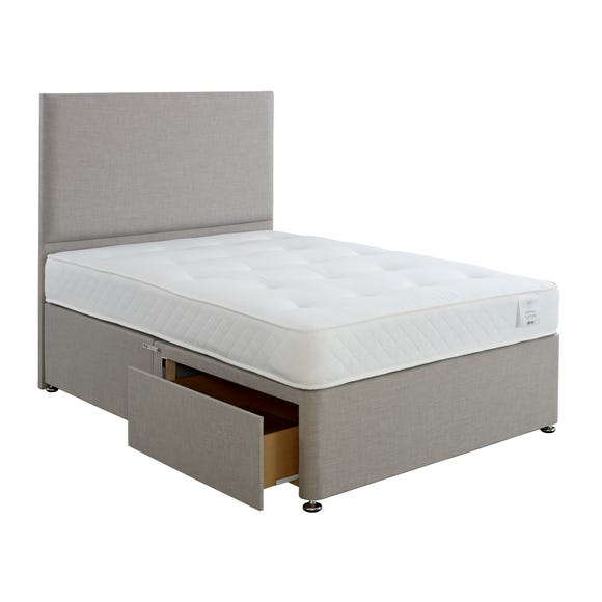 Superior Comfort Divan Bed with Mattress Grey undefined