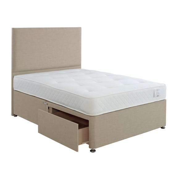Superior Comfort Divan Bed with Mattress Natural undefined