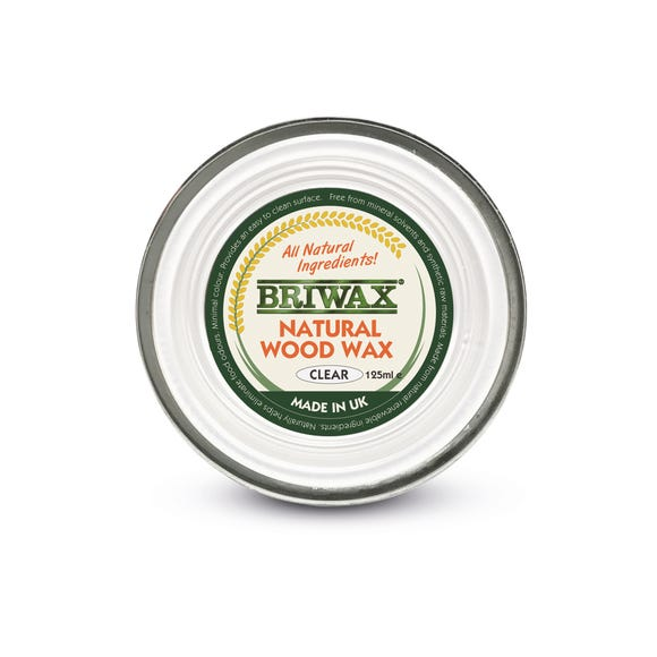 Briwax 125g Natural Wood Wax Natural