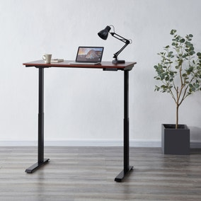 Apollo Walnut Effect Adjustable Standing Smart Desk