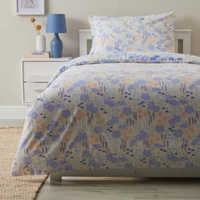 Floral Meadow Anti Bacterial Reversible Duvet Cover and Pillowcase Set