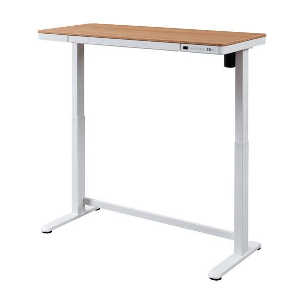Juno Oak Effect Adjustable Standing Smart Desk Mid Oak (Brown)