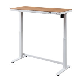 Juno Oak Effect Adjustable Standing Smart Desk