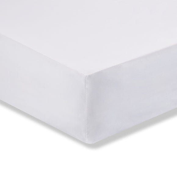 Sustainable Easy Care Fitted Sheet White undefined