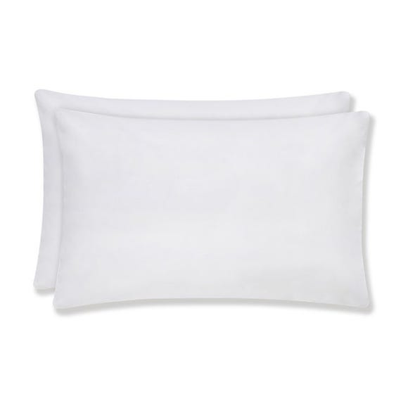 Sustainable Easy Care Housewife Pillowcase Pair White