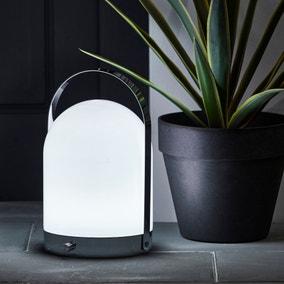 Rome Outdoor Silver Portable Lamp