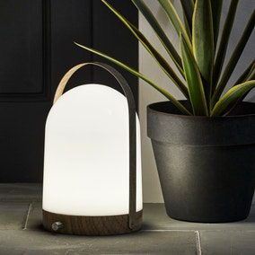Rome Outdoor Wood Effect Portable Lamp