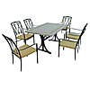 Burlington 6 Seater Dining Set with Ascot Chairs Black