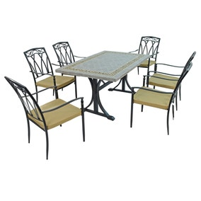 Burlington 6 Seater Dining Set with Ascot Chairs