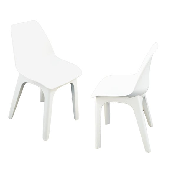 Eolo Pack of 2 Matte Chairs White