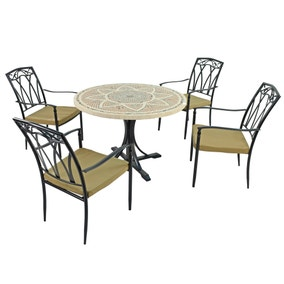 Montpellier 4 Seater Dining Set with Ascot Chairs