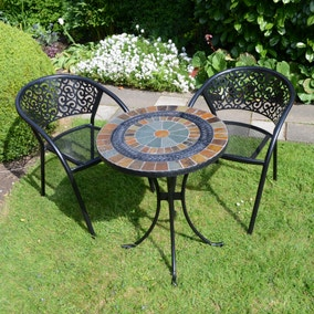 Villena 2 Seater Bistro Set with Florence Chairs