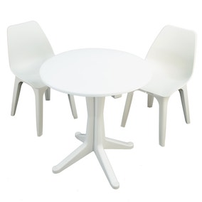 Levante 2 Seater White Bistro Set with Eolo Chairs