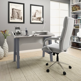 Truro Grey and Marble Effect Desk