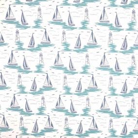 Sail Boat Craft Cotton Fabric