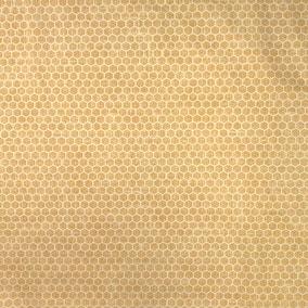 Allotment Honeycomb Ochre Craft Cotton Fabric