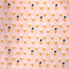 Ditsy Tulips Blush Craft Cotton Fabric