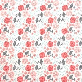 Chelsea Flower Multicoloured Craft Cotton Fabric
