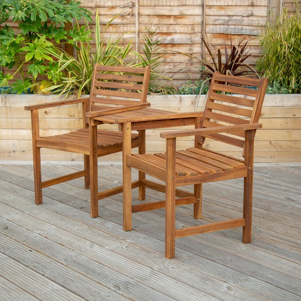 Acacia Wood Companion Seat Natural
