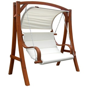 Wooden 3 Seater Swing Chair With Canopy