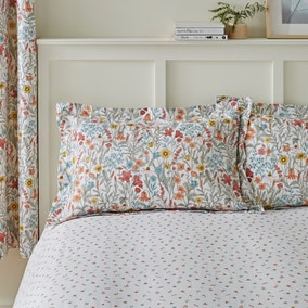 Meadow Ditsy Red 100% Cotton Oxford Pillowcase