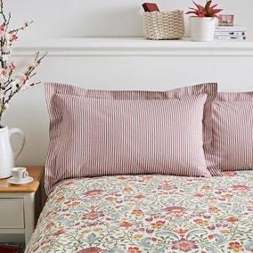Ruskin Red 100% Cotton Oxford Pillowcase