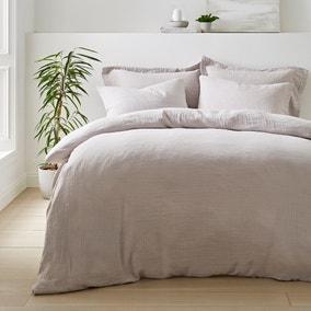 Alerday Silver 100% Cotton Duvet Cover and Pillowcase Set