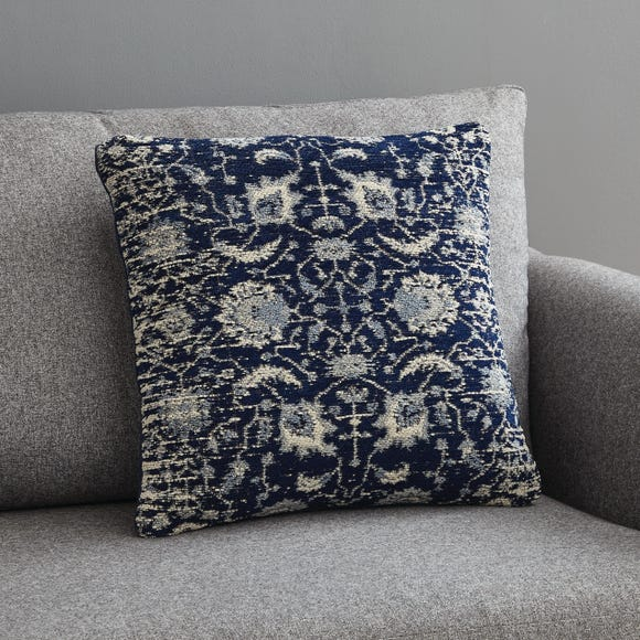 Blue Global Chenille Cushion Navy (Blue) undefined