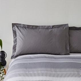 Elements Otis Grey 100% Cotton Oxford Pillowcase