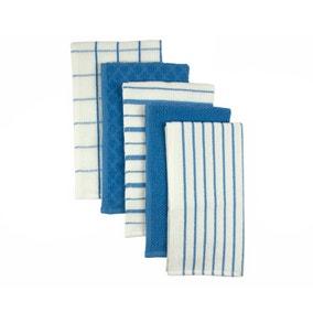 Terry Set of 5 Tea Towels
